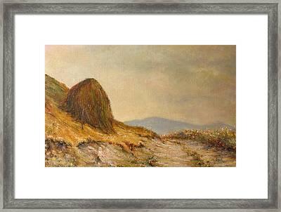 Landscape With A Hayrick Framed Print