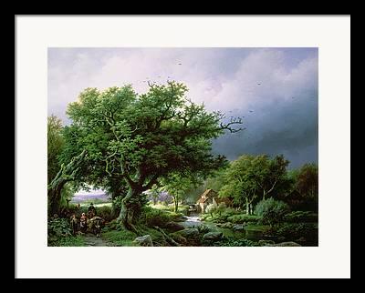 Landscape With A Road Framed Prints