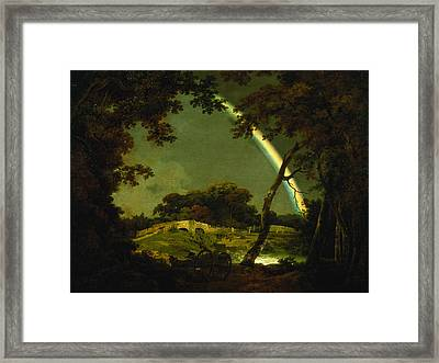 Landscape With A Rainbow Framed Print
