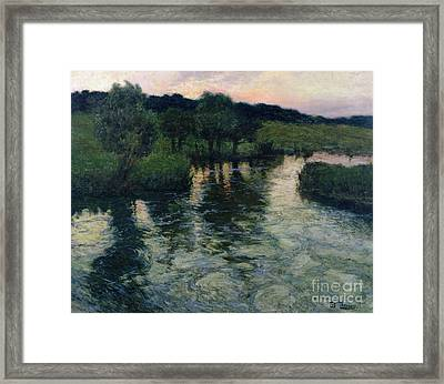 Landscape With A River Framed Print by Fritz Thaulow