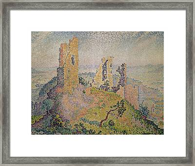 Landscape With A Ruined Castle  Framed Print