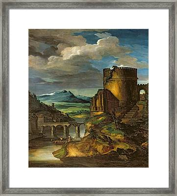 Landscape With A Tomb  Framed Print
