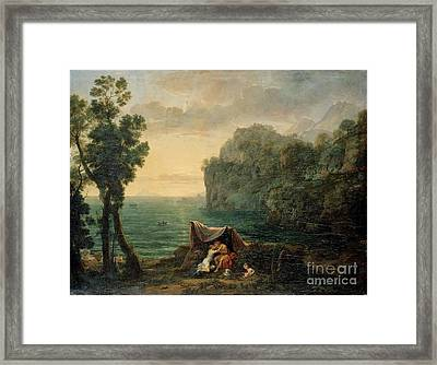 Landscape With Acis And Galatea Framed Print by MotionAge Designs
