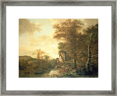 Landscape With Arched Gateway Framed Print