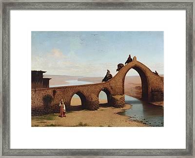 Landscape With Bridge Framed Print