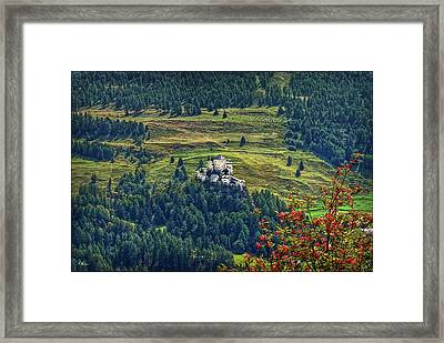 Landscape With Castle Framed Print by Hanny Heim