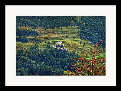 Schloss Tarasp Framed Prints