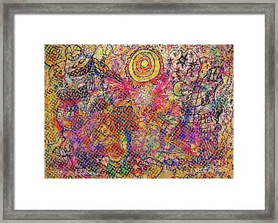 Landscape With Dots Framed Print