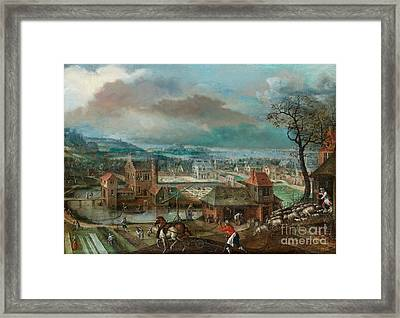 Landscape With Figures Framed Print