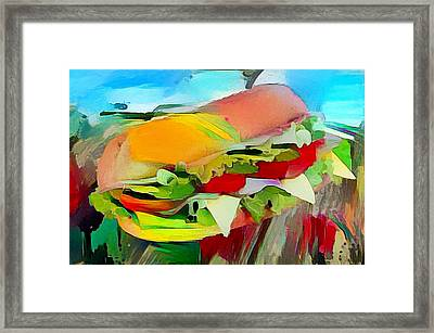 Landscape With Filled Roll Framed Print by Roger Smith