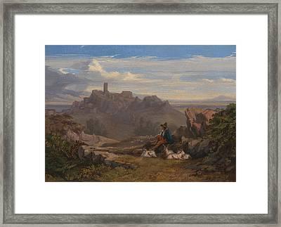 Landscape With Goatherd Framed Print