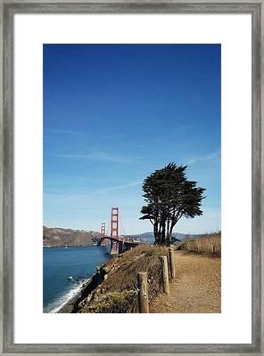 Landscape With Golden Gate Bridge Framed Print
