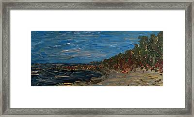 Landscape With Green Bay Framed Print by Jacob Stempky