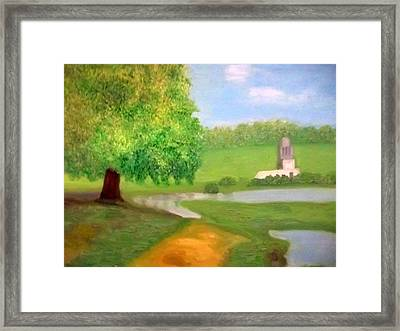 Landscape With Luxuriant Tree And Folly Framed Print