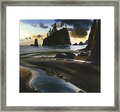 Landscape With Outcrop Of Rocks, Water Framed Print