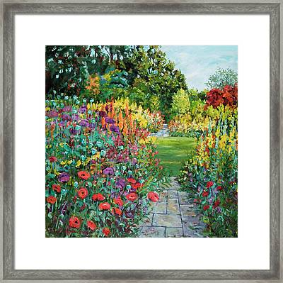 Landscape With Poppies Framed Print