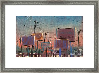 Landscape With Rectangles Framed Print