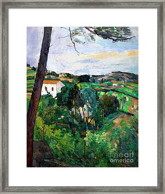 Landscape With Red Roof, Or Pine In Estaque, Paysage Au Toit Rou Framed Print by Peter Barritt