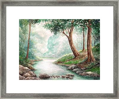 Landscape With River Framed Print by Enaile D Siffert