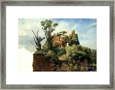 Landscape With Ruins Framed Print by Celestial Images
