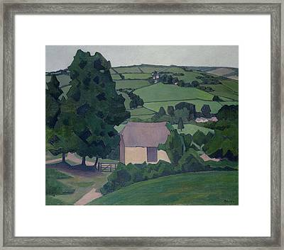 Landscape With Thatched Barn Framed Print