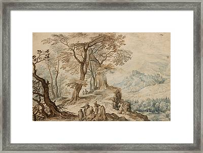 Landscape With Tobias And The Angel Framed Print by Jan Brueghel the Younger