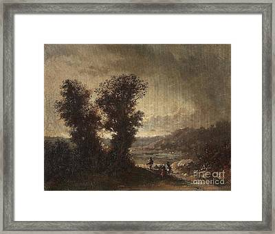 Landscape With Travellers Framed Print by Celestial Images