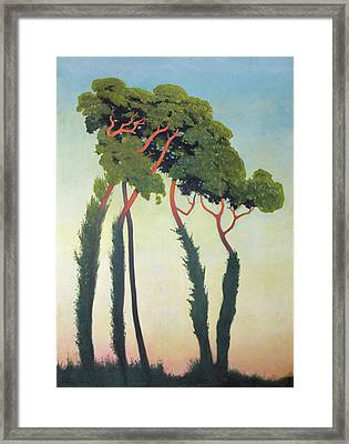 Landscape With Trees Framed Print by Felix Edouard Vallotton