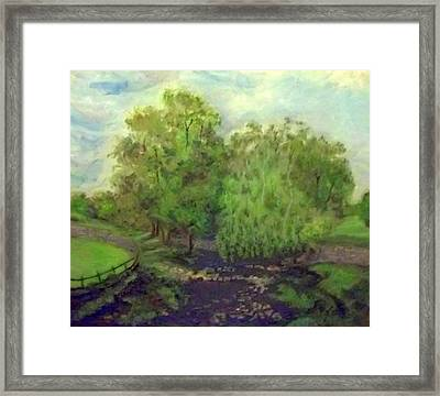 Landscape With Trees Framed Print