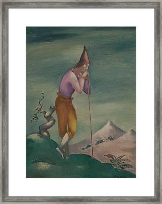 Landscape With Wanderer Framed Print