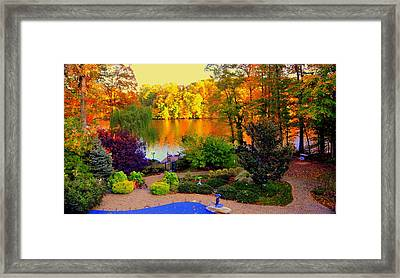 Landscaped Grounds Framed Print by Aron Chervin