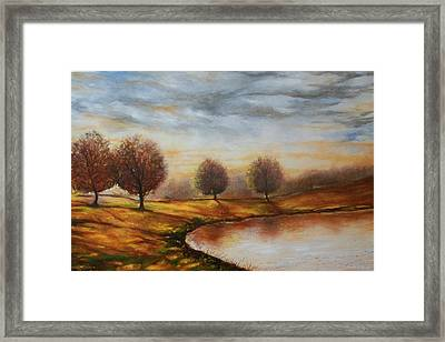 Framed Print featuring the painting Landscapes by Emery Franklin