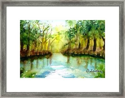 Landschaft  Framed Print by Carmen Sander