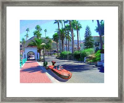 Landspeeder Framed Print by Snake Jagger