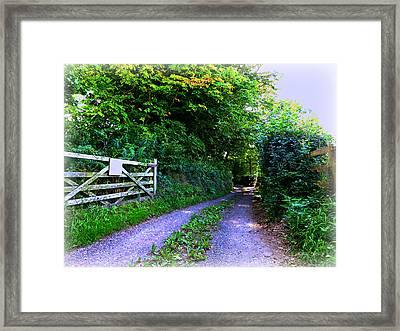 Lane Near Monmouth Framed Print