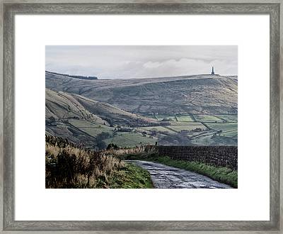 Lane Coming Down Framed Print by Philip Openshaw