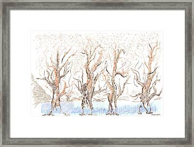 Lane Framed Print by Regina Valluzzi