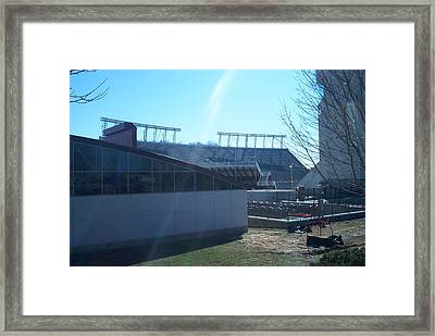 Lane Stadium Framed Print