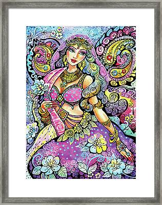 Purple Paisley Flower  Framed Print