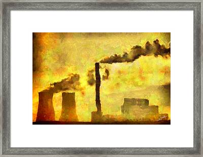 Planet Earth Framed Print by George Rossidis