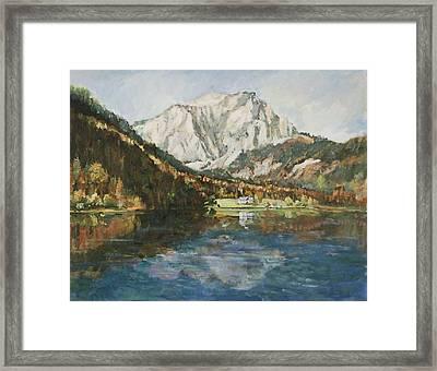 Langbathsee Austria Framed Print