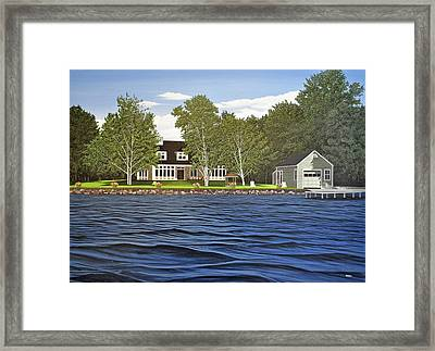 Framed Print featuring the painting Langer Summer Home Lake Simcoe by Kenneth M Kirsch