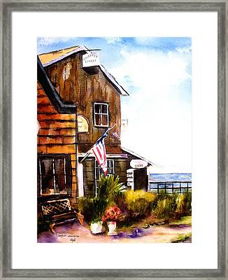 Framed Print featuring the painting Langley Washington by Marti Green