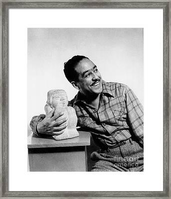 Langston Hughes (1902-1967) Framed Print