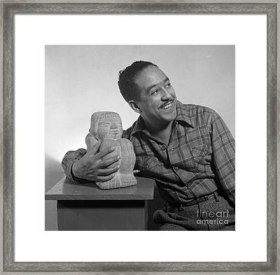 Langston Hughes, American Poet Framed Print by Science Source