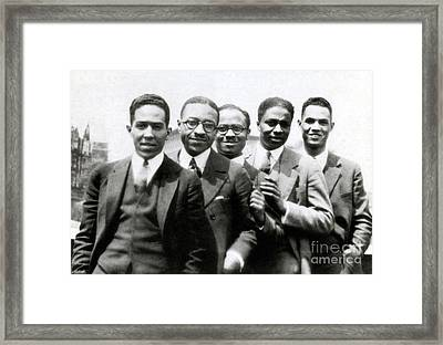 Langston Hughes And Friends, 1924 Framed Print