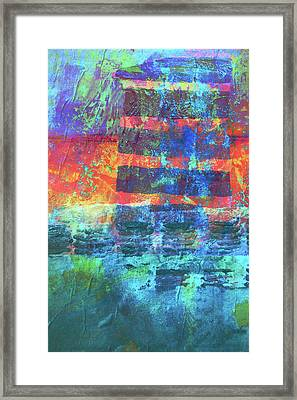 Framed Print featuring the painting Language by Nancy Merkle