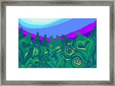 Language Of Forest Framed Print