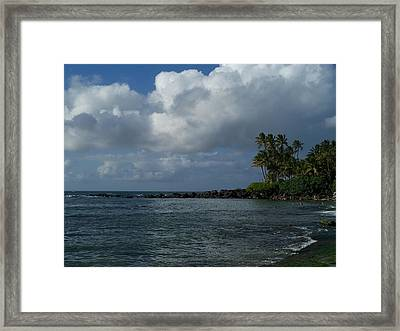 Laniakea Beach Framed Print by Grant Wiscour
