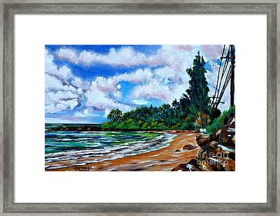 Laniakea Beach Framed Print